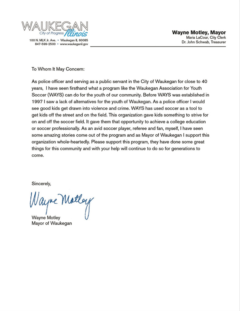 Waukegan_Mayor_Letter